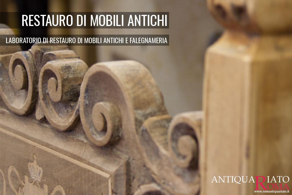 Laboratorio di ebanisteria restauro doratura e for Regalo mobili antichi