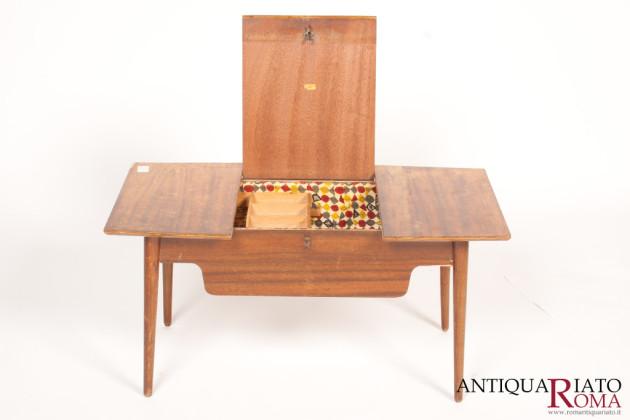 Tavolo basso con piano richiudibile antiquariato a roma - Tavolo richiudibile ...