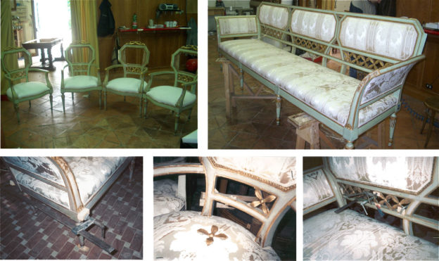 Restauro di mobili antichi a palazzo Farnesina