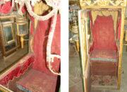 Reggia di Caserta – Restauro della Portantina di Papa Pio IX